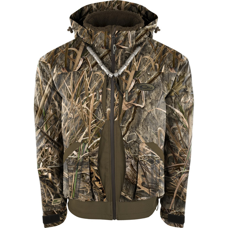 Drake Guardian Elite 3-in-1 Systems Hunting Jacket in Mossy Oak Blades Habitat Color