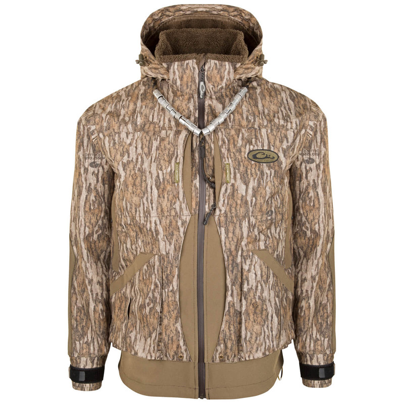 Drake Guardian Elite 3-in-1 Systems Hunting Jacket in Mossy Oak Bottomland Color