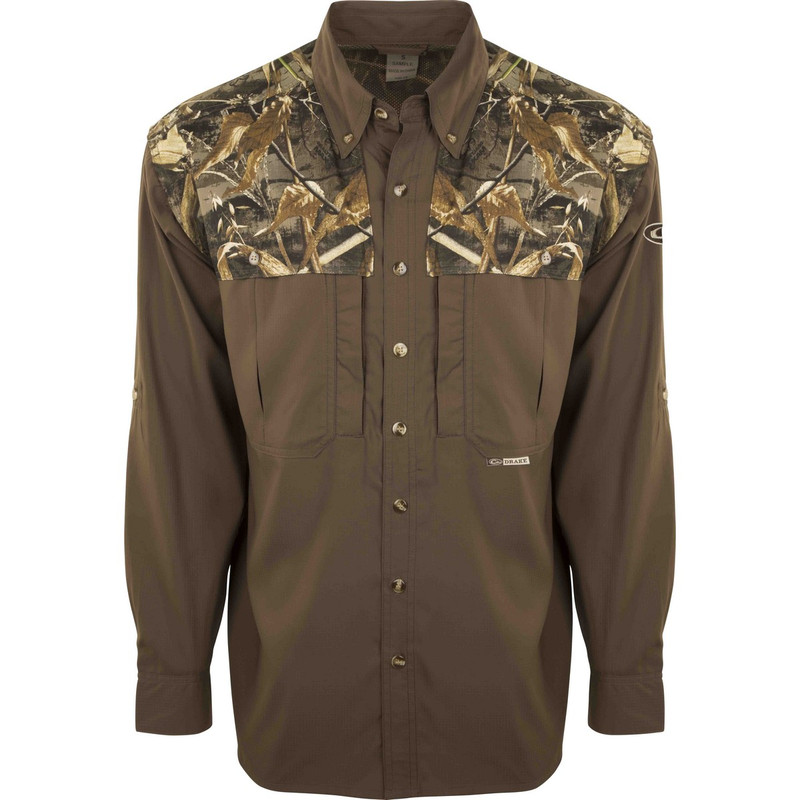 Drake EST Two Tone Flyweight Wingshooter Long Sleeve in Realtree Max 5 Color