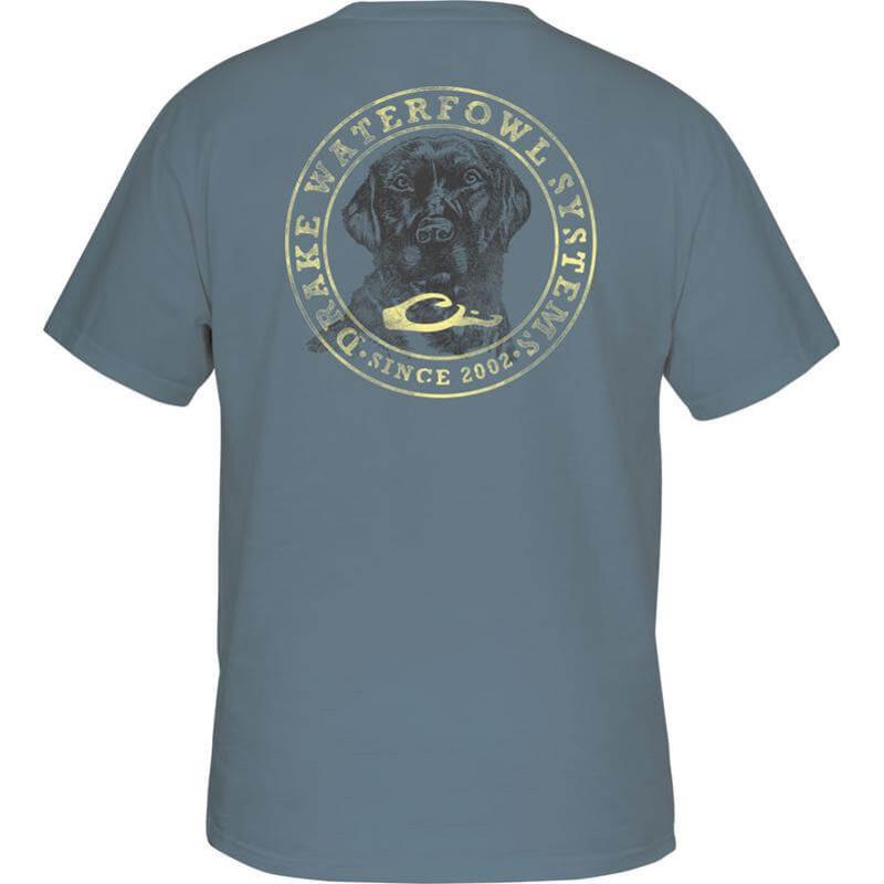 Drake circle lab short sleeve tee for Drake fishing shirts