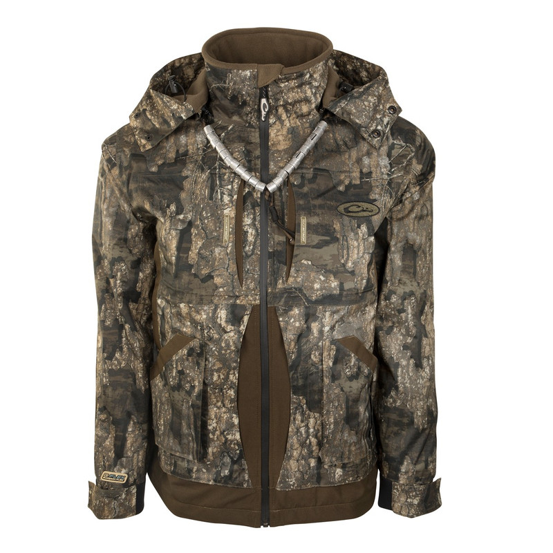 Drake Guardian Flex Full Zip Jacket - Shell Weight in Realtree Timber Color
