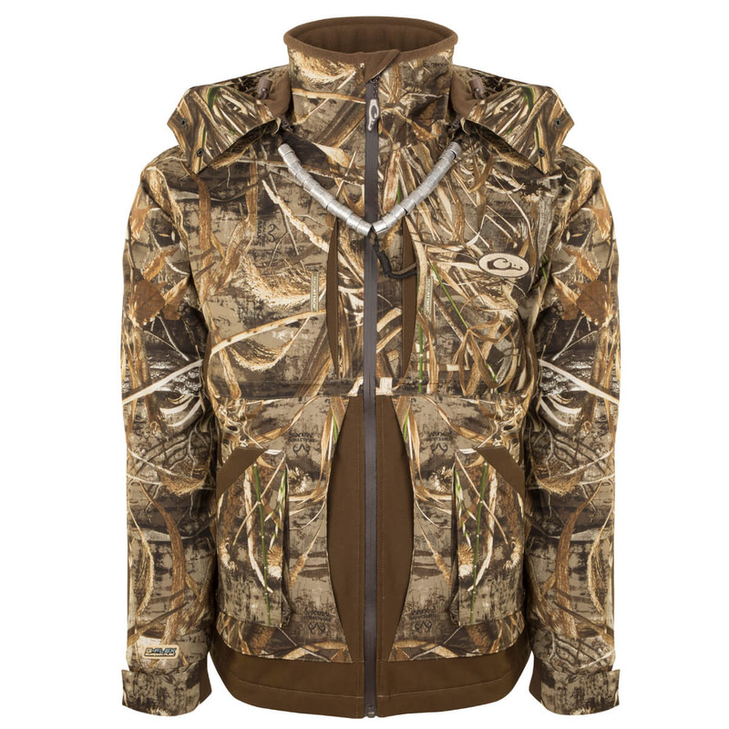 Drake Guardian Flex Full Zip Jacket - Fleece Lined in Realtree Max 5 Color