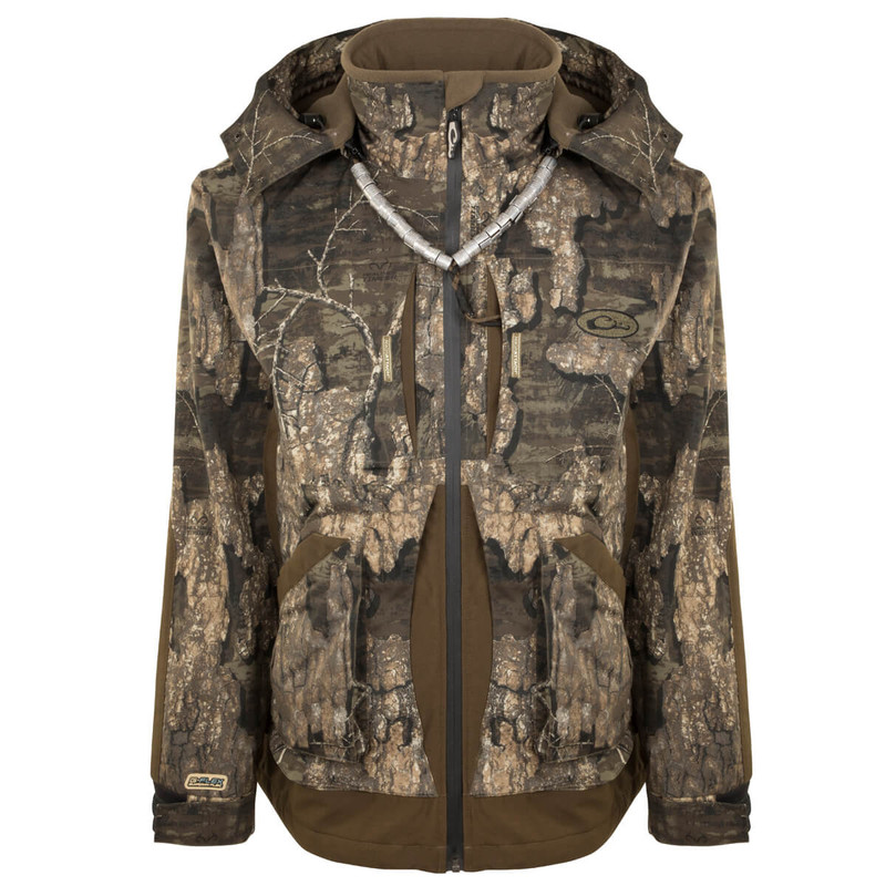 Drake Guardian Flex Full Zip Jacket - Fleece Lined in Realtree Timber Color