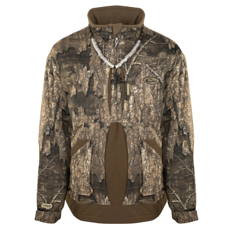 Drake Guardian Flex 1/4 Zip Jacket - Fleece Lined in Realtree Timber Color