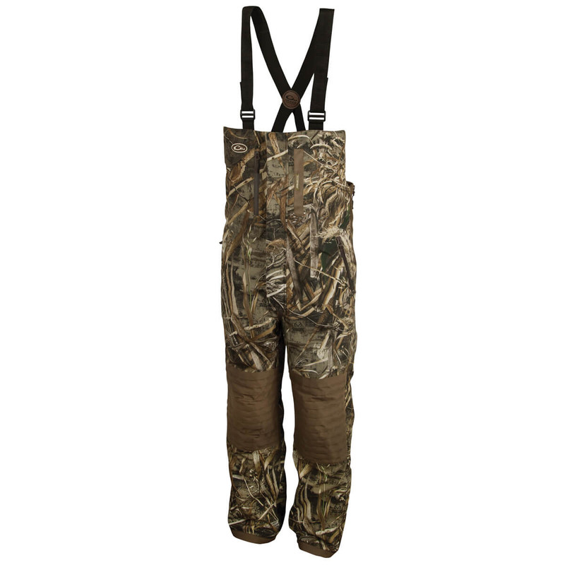 Drake Guardian Flex Insulated Hunting Bibs in Realtree Max 5 Color