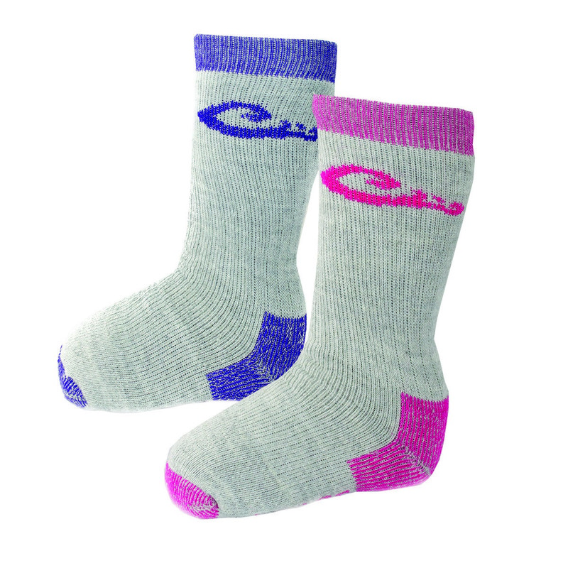 Drake Kids Wool Blend Boot Sock 2 Pack in Fuchsia Purple Color