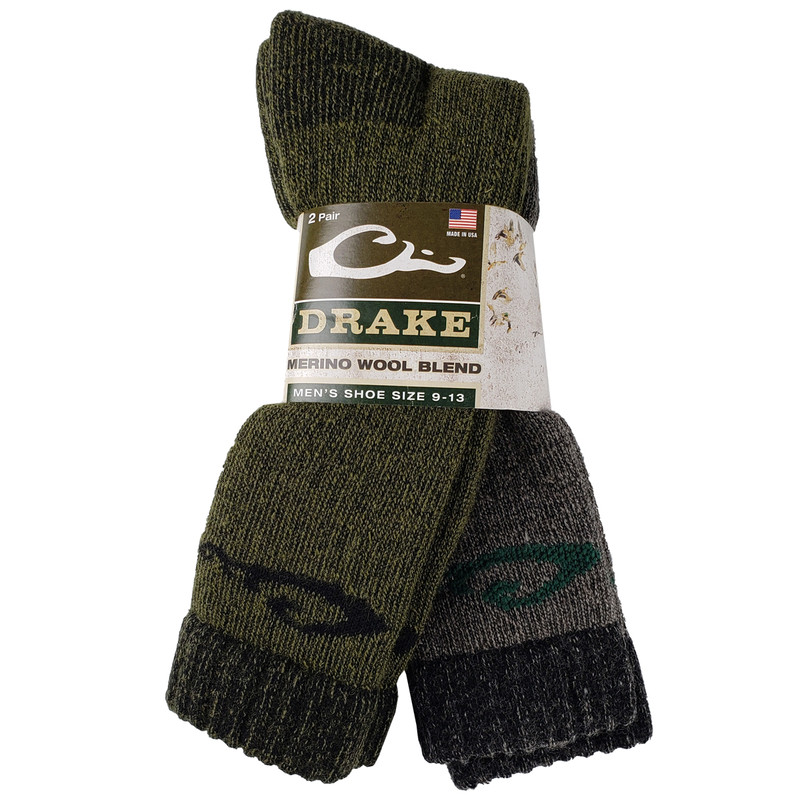 Drake Full Cushion Wool Blend 2 Pack Socks - Assorted Colors