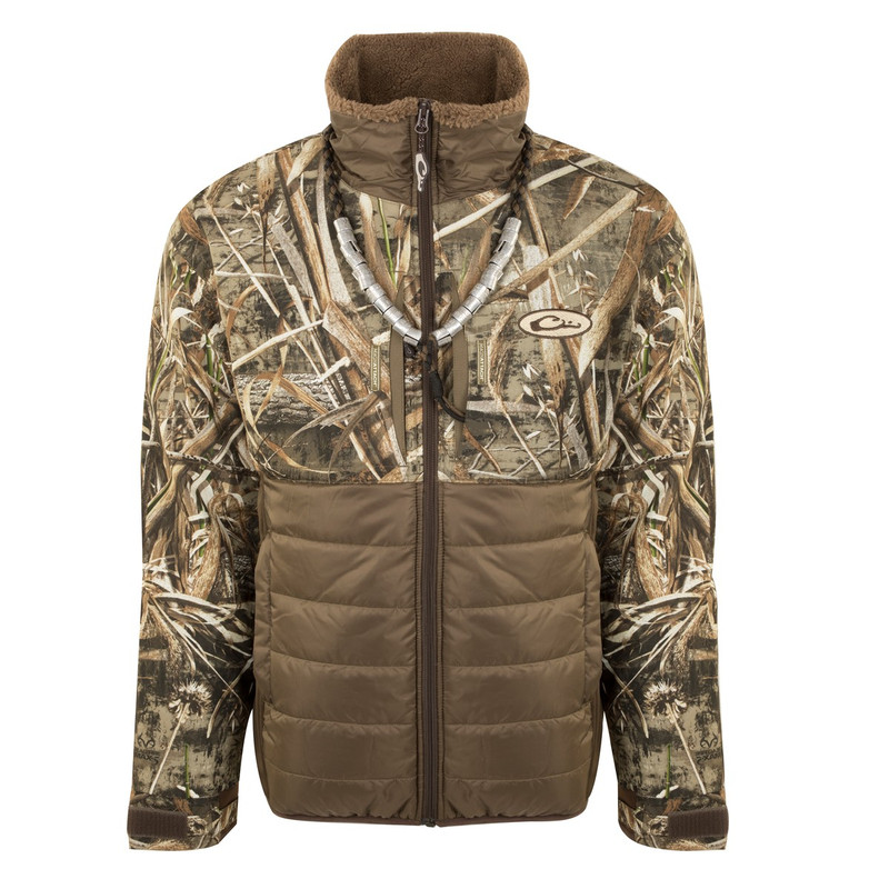 Drake LST Guardian Flex Double Down Eqwader Full Zip in Realtree Max 5 Color
