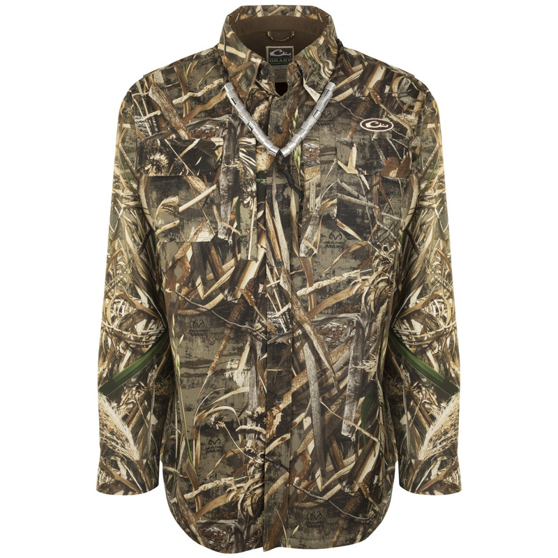 Drake Guardian Flex Shirtket in Realtree Max 5 Color