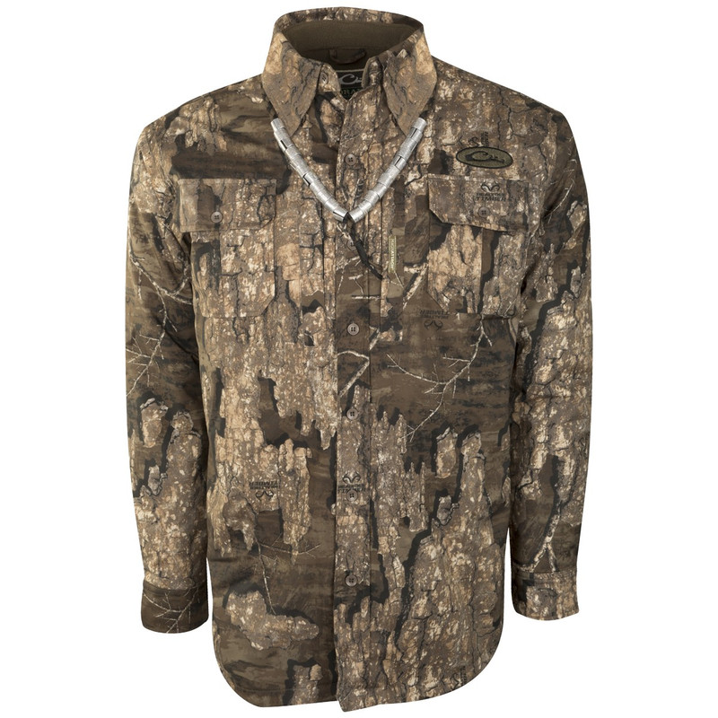 Drake Guardian Flex Shirtket in Realtree Timber Color
