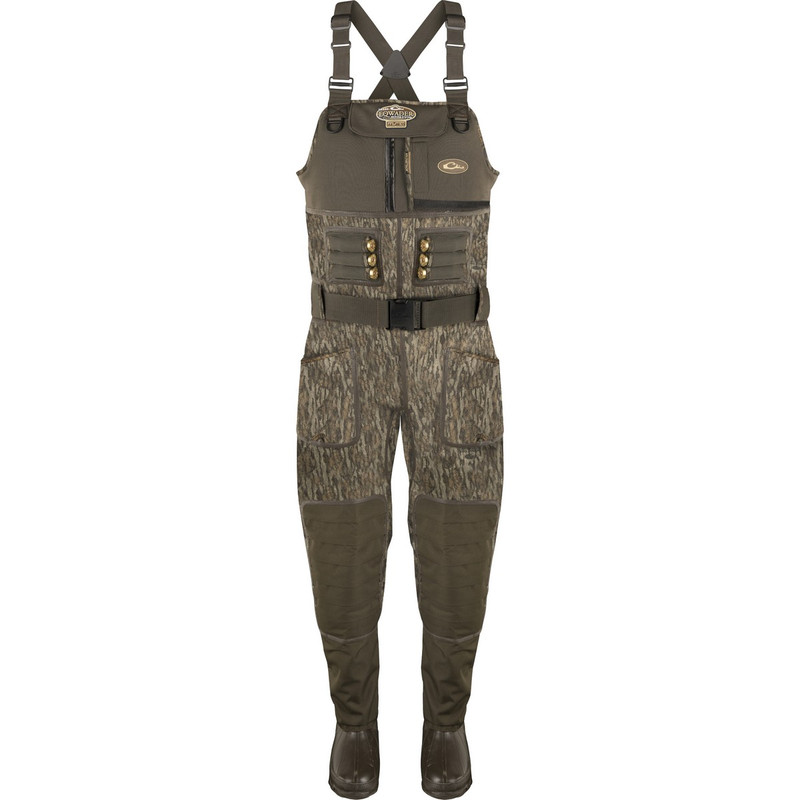 Drake LST Eqwader 2.0 5mm Neoprene Wader - Stout in Mossy Oak Bottomland Color