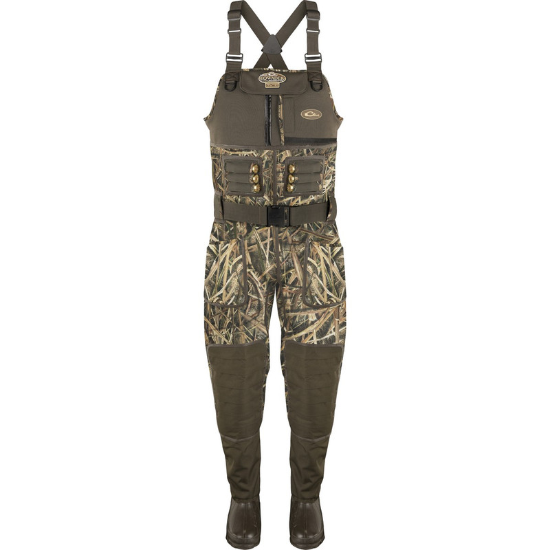 Drake LST Eqwader 2.0 5mm Neoprene Wader - Stout in Mossy Oak Shadow Grass Blades Color