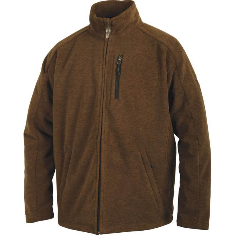 Drake MST Heathered Windproof Full Zip Jacket in Heathered Brown Color