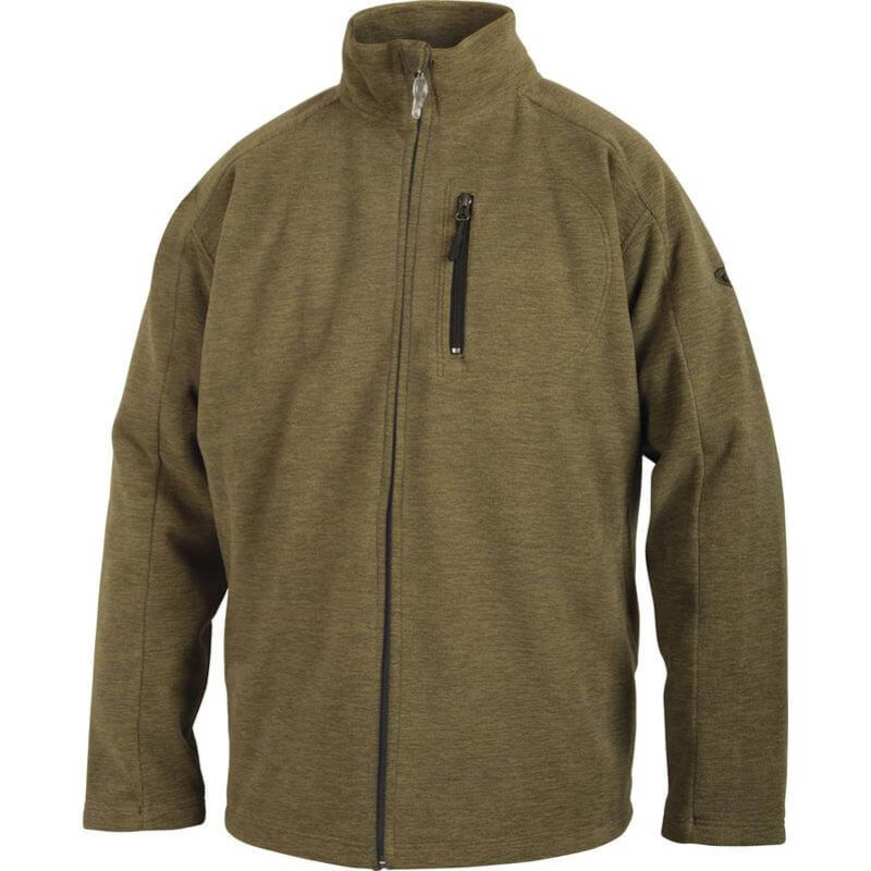 Drake MST Heathered Windproof Full Zip Jacket in Heathered Sage Color