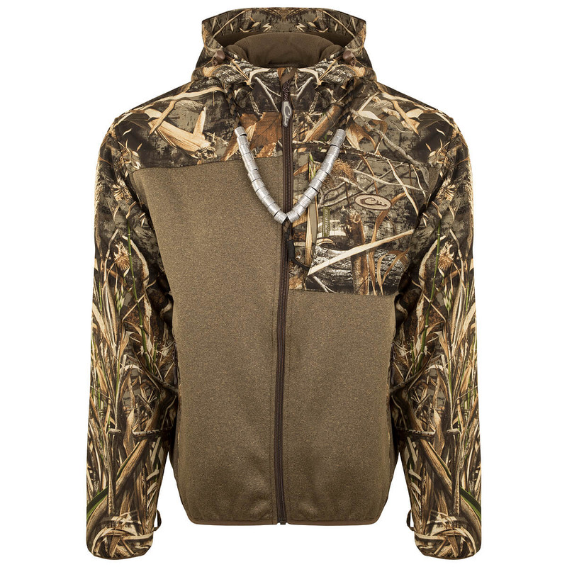 Drake MST Endurance Hybrid Liner Full Zip with Hood in Realtree Max 5 Color