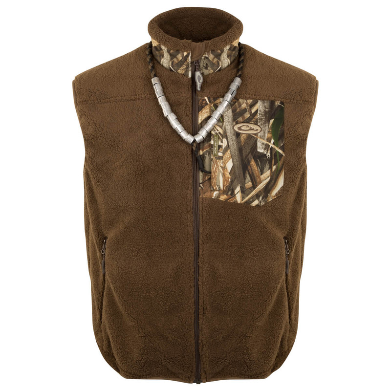 Drake MST Sherpa Fleece Hybrid Liner Vest in Realtree Max 5 Color