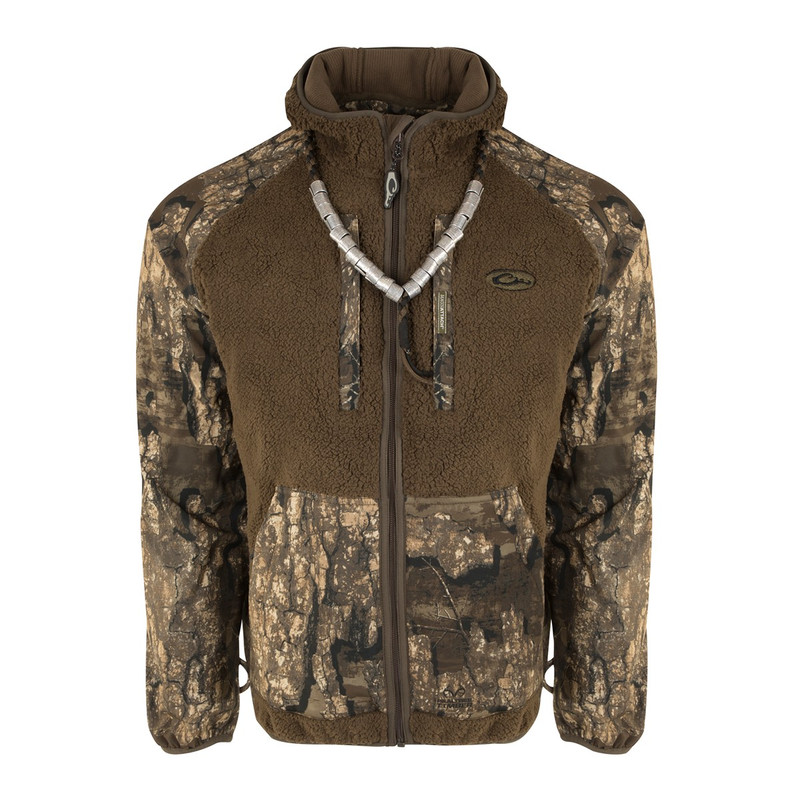 Drake MST Sherpa Fleece Hybrid Liner Full Zip With Hood in Realtree Timber Color