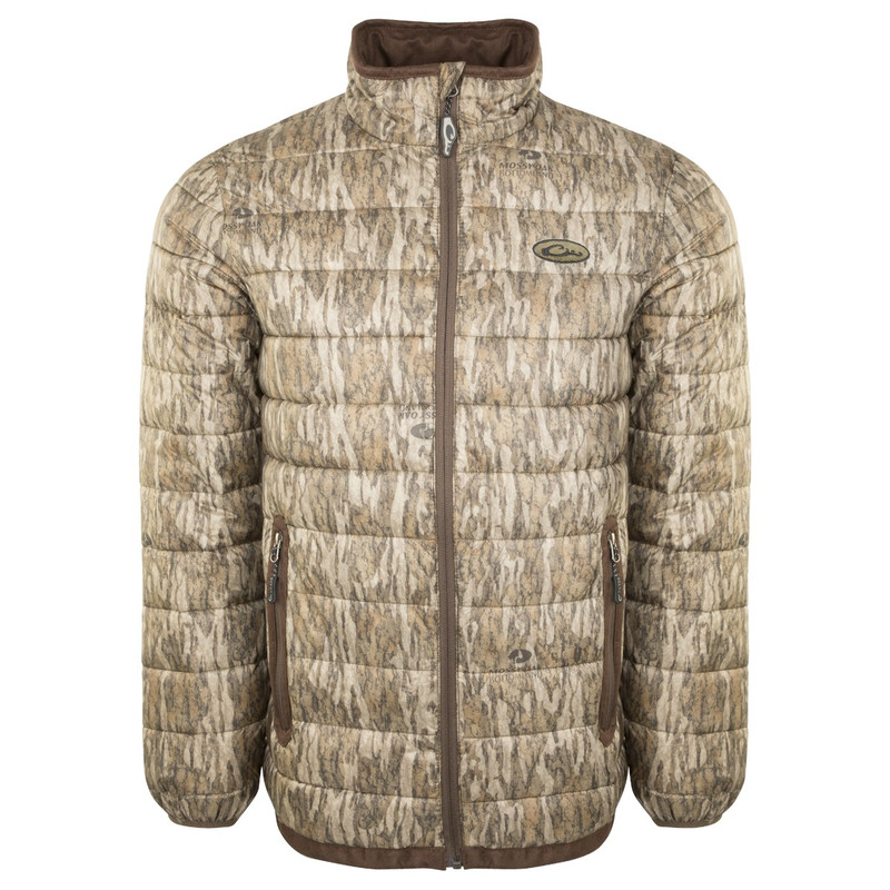 Drake LST Double Down Layering Full Zip Jacket in Mossy Oak Bottomland Color