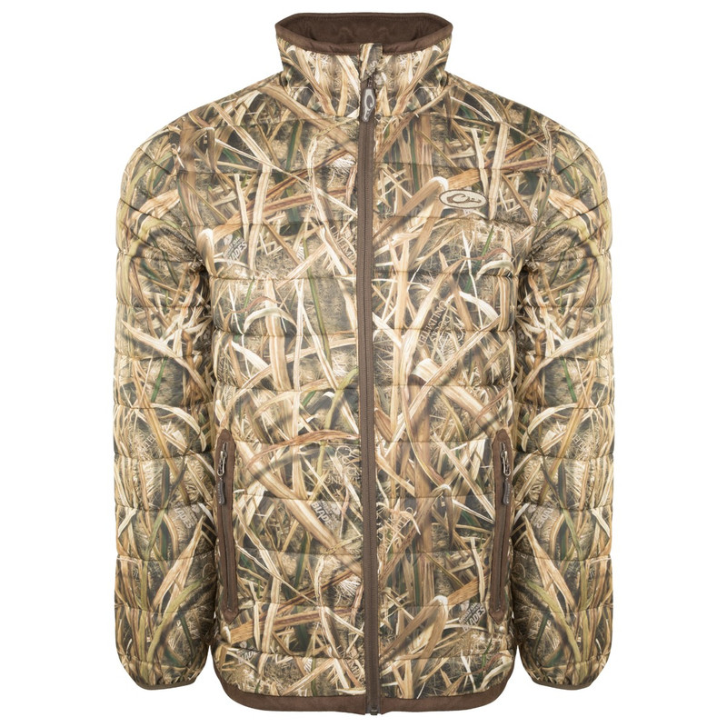 Drake LST Double Down Layering Full Zip Jacket in Mossy Oak Shadow Grass Blades Color