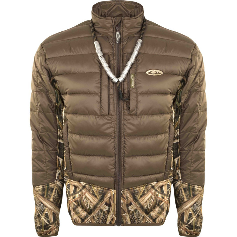 Drake LST Double Down Endurance Hybird Liner Full Zip in Mossy Oak Shadow Grass Blades Color