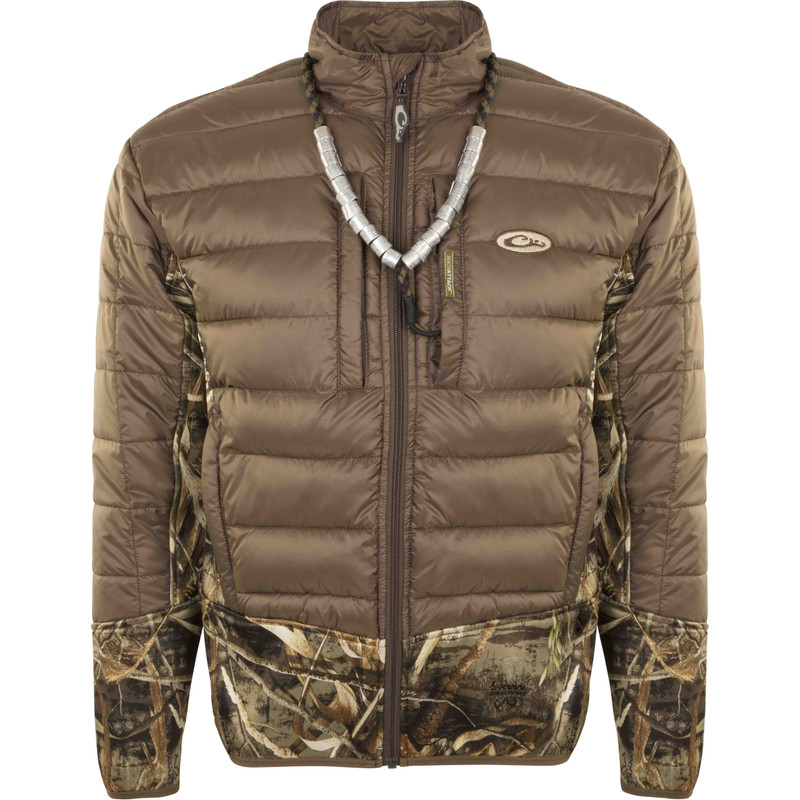 Drake LST Double Down Endurance Hybird Liner Full Zip in Realtree Max 5 Color