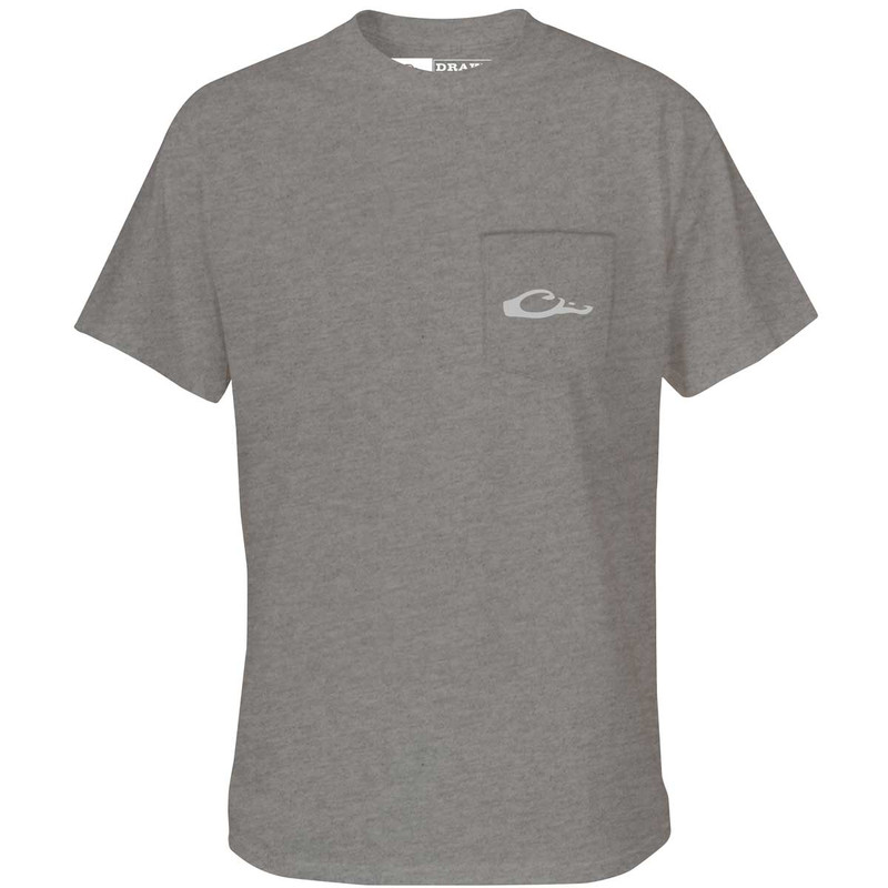 Drake Puddle Duck Collection Short Sleeve T-Shirt in Graphite Heather Color