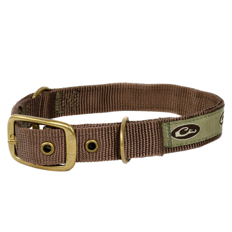 Drake Team Gun Dog Split Ring Dog Collar in Brown Color