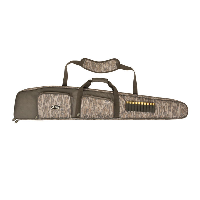 Drake Deluxe Waterfowler's Gun Case in Mossy Oak Bottomland Color