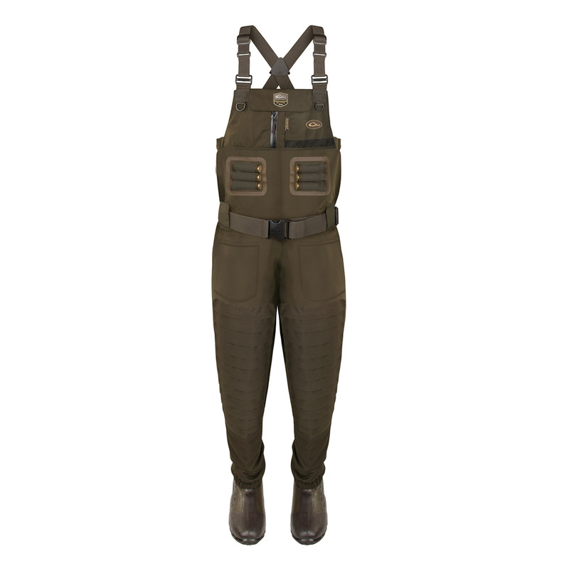 Drake Guardian Elite Uninsulated Breathable Chest Wader - Stout in Green Timber Color
