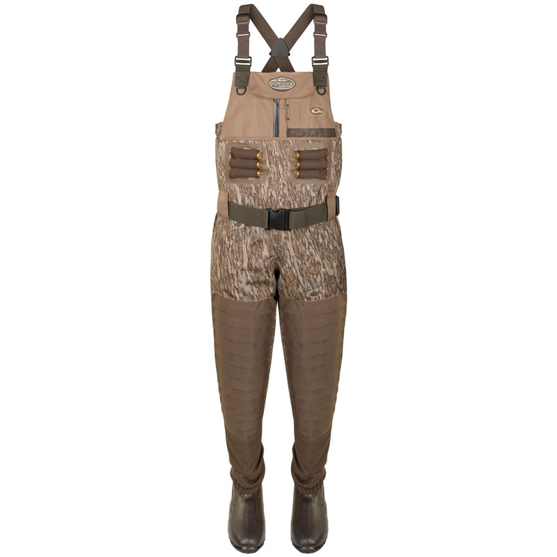 Drake Guardian Elite Uninsulated Breathable Chest Wader - Stout in Mossy Oak Bottomland Color