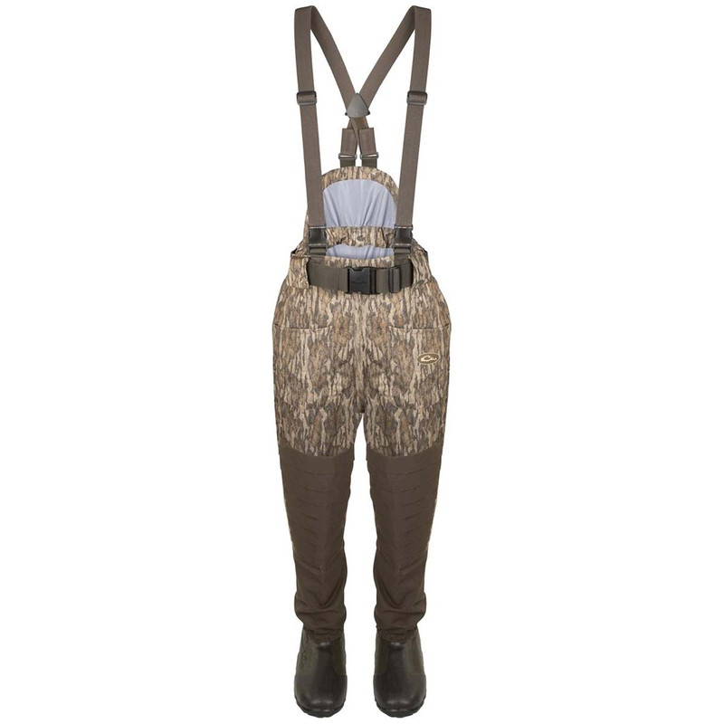 Drake Guardian Elite Uninsulated Breathable Waist High Wader - Short & Slim in Mossy Oak Bottomland Color