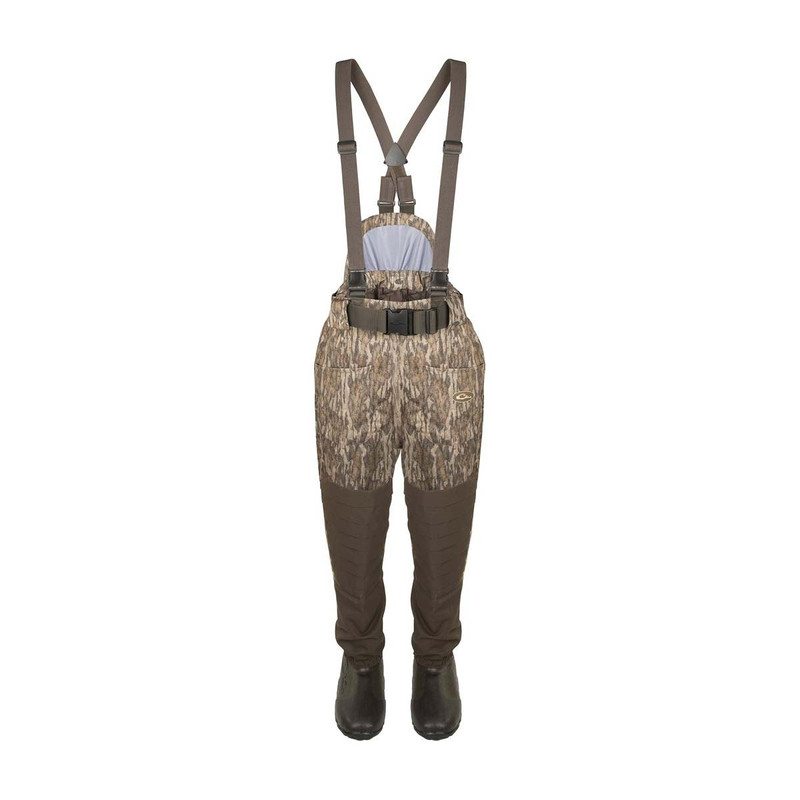 Drake Guardian Elite Insulated Breathable Waist High Wader - Stout in Mossy Oak Bottomland Color