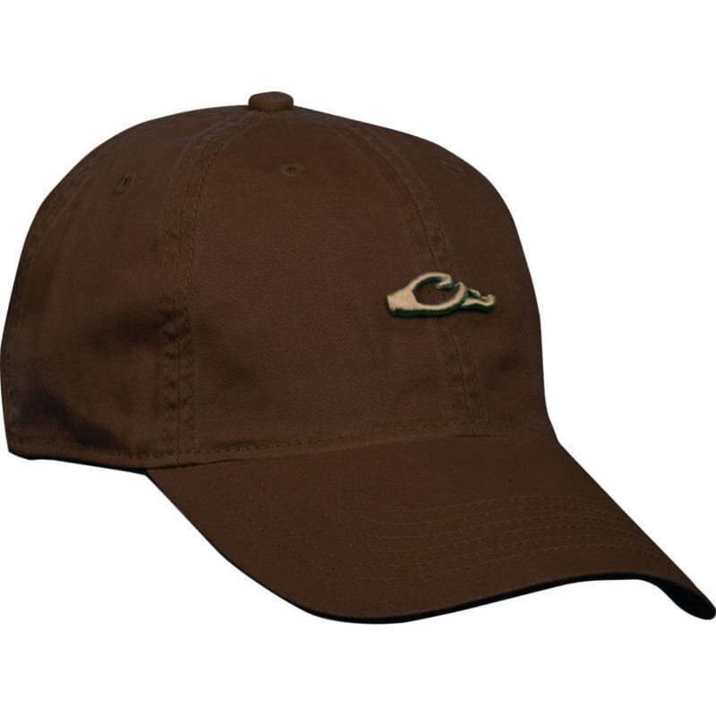 Drake Cotton Twill Logo Cap in Chocolate Color