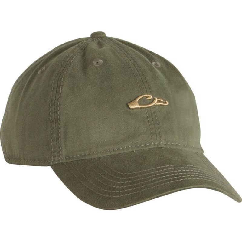 Drake Cotton Twill Logo Cap in Olive
