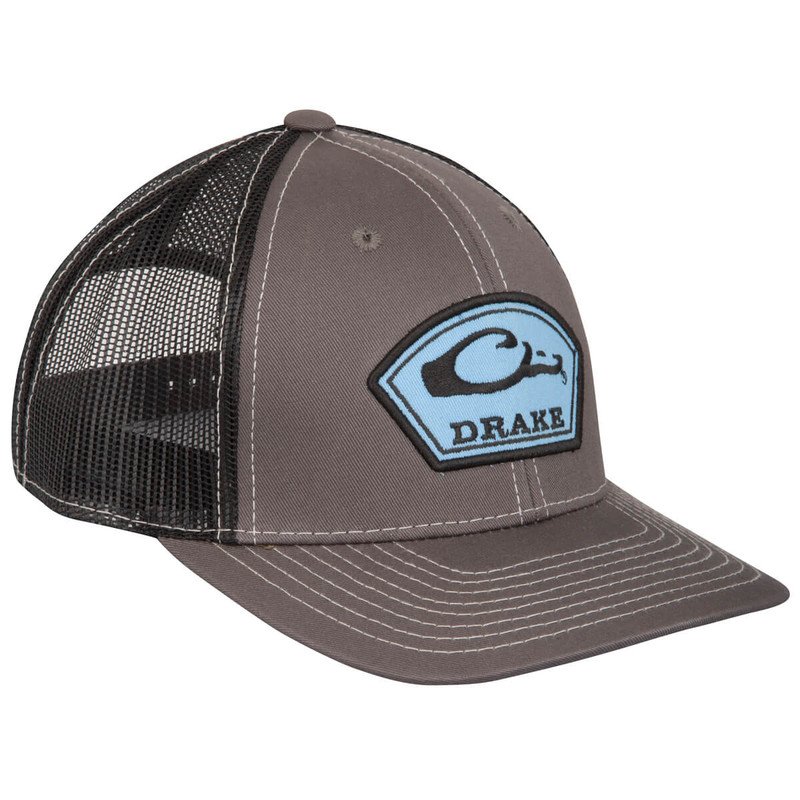 Drake Arch Patch Mesh Cap in Charcoal Black Color