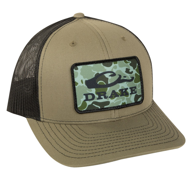Drake Old School Patch Mesh Back Cap in Loden Black Color