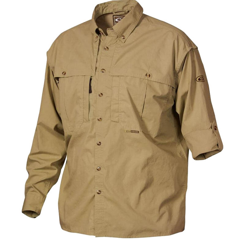 Drake Cotton Stay Cool Long Sleeve Wingshooter Shirt in Harvest Gold Color