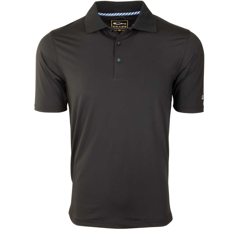 Drake Performance Stretch Polo in Black Color
