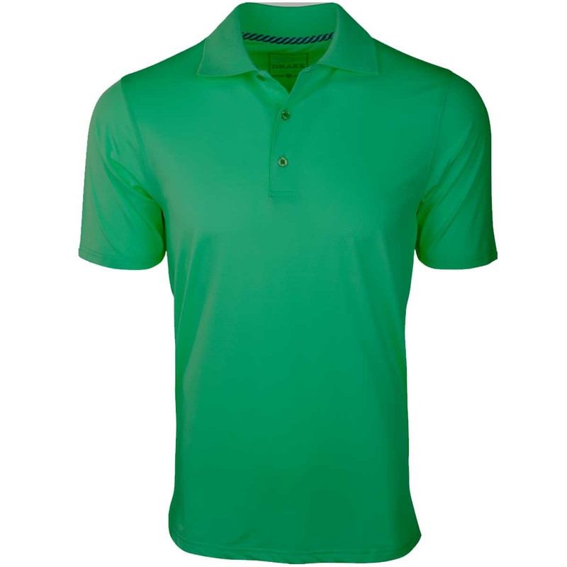 Drake Performance Stretch Polo in Irish Green Color