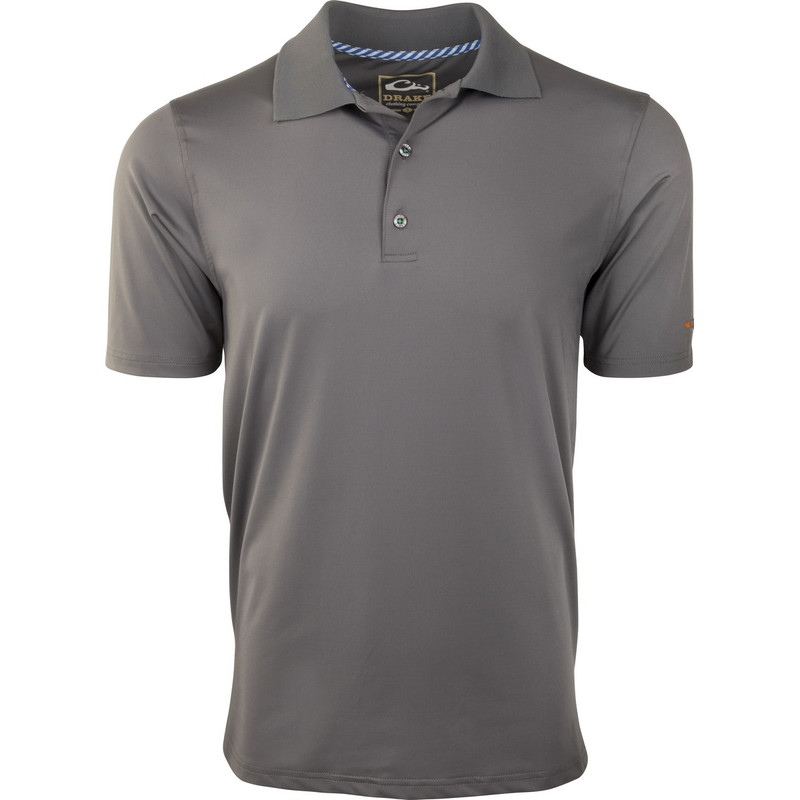 Drake Performance Stretch Polo in Stone Grey Color