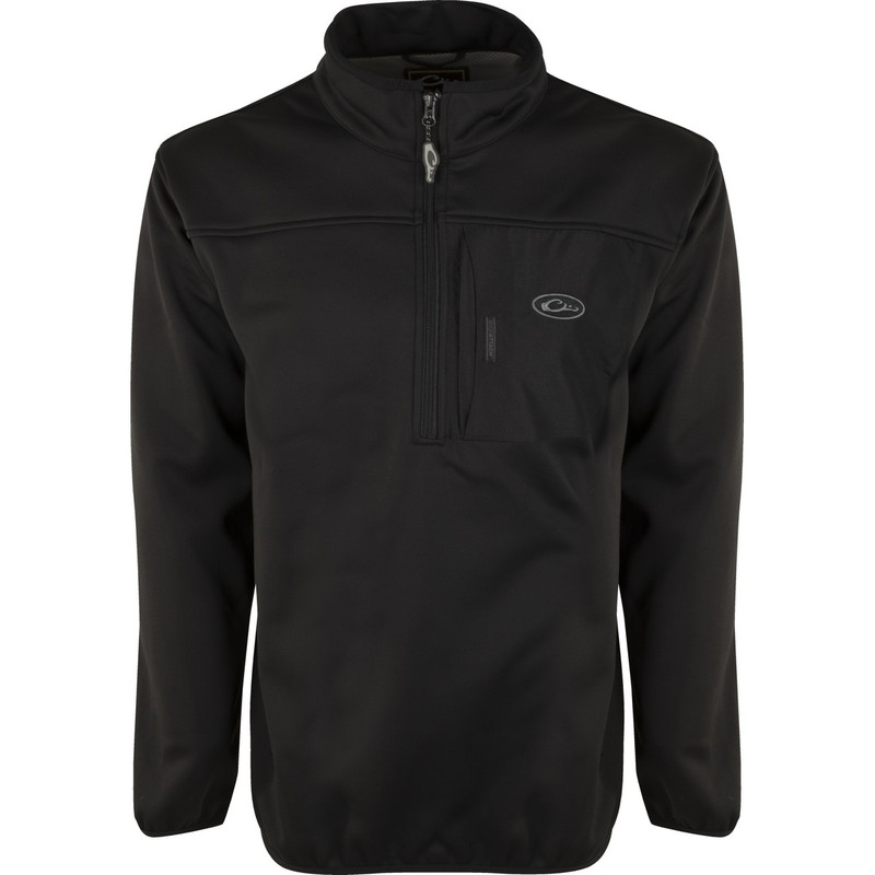 Drake Endurance Quarter Zip Pullover in Black Color