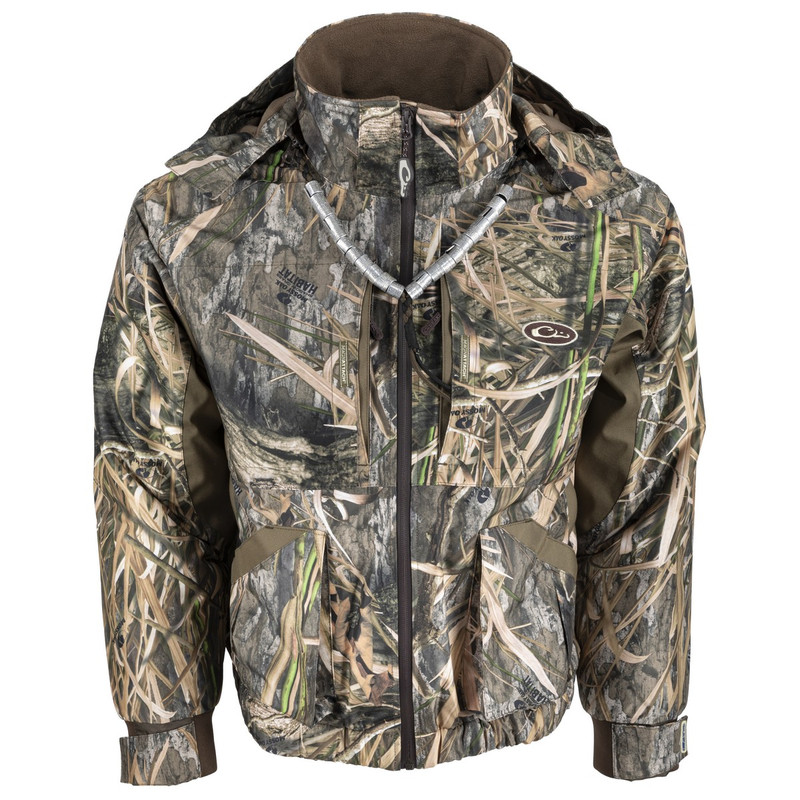 Drake Waterfowler's Wading Jacket 3.0 in Mossy Oak Blades Habitat Color