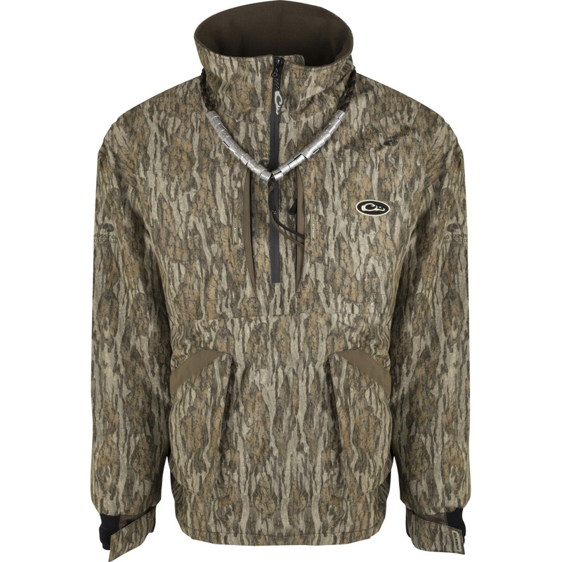 Drake Refuge Fleece Lined Quarter Zip 3.0 in Mossy Oak Bottomland Color