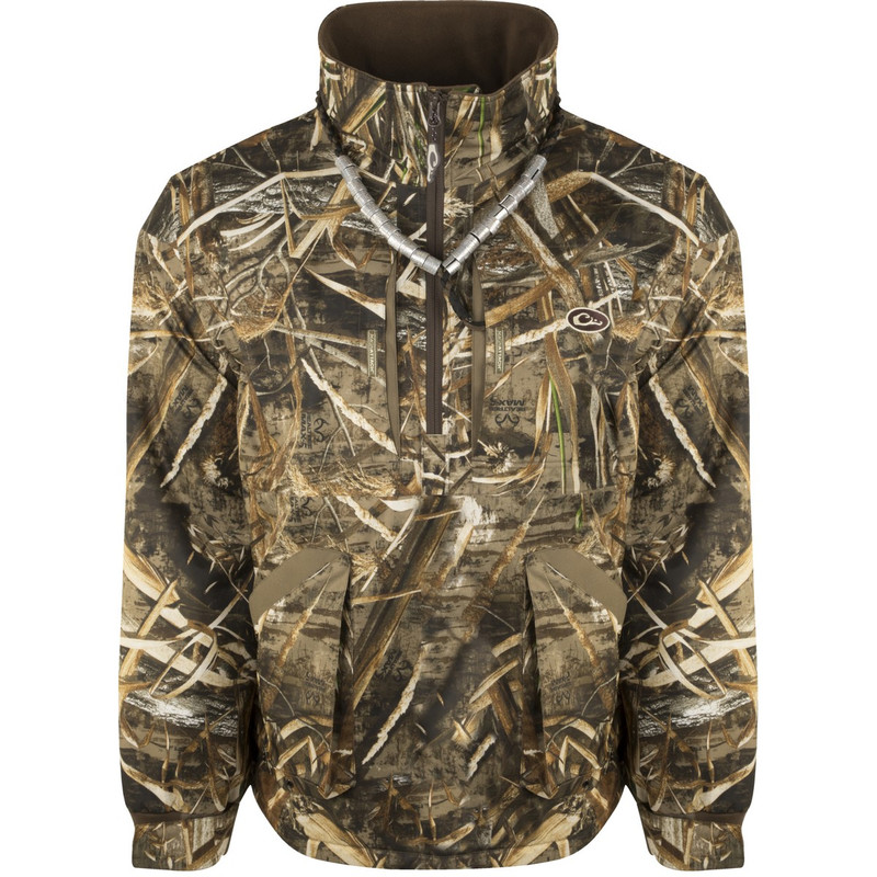 Drake Refuge Fleece Lined Quarter Zip 3.0 in Realtree Max 5 Color