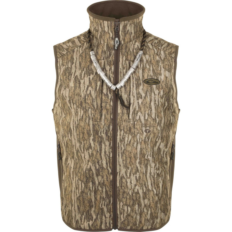 Drake EST Windproof Tech Vest in Mossy Oak Bottomland Color