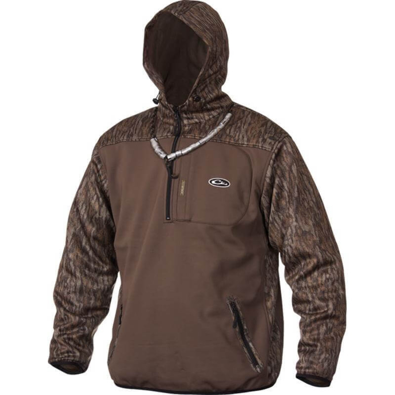 Drake MST Endurance Soft Shell Hoodie in Mossy Oak Bottomland Color