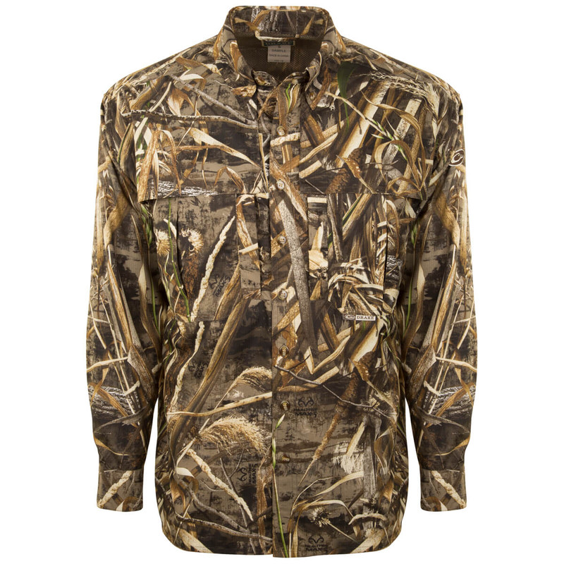 Drake EST Flyweight Wingshooter Long Sleeve Hunting Shirt in Realtree Max 5 Color