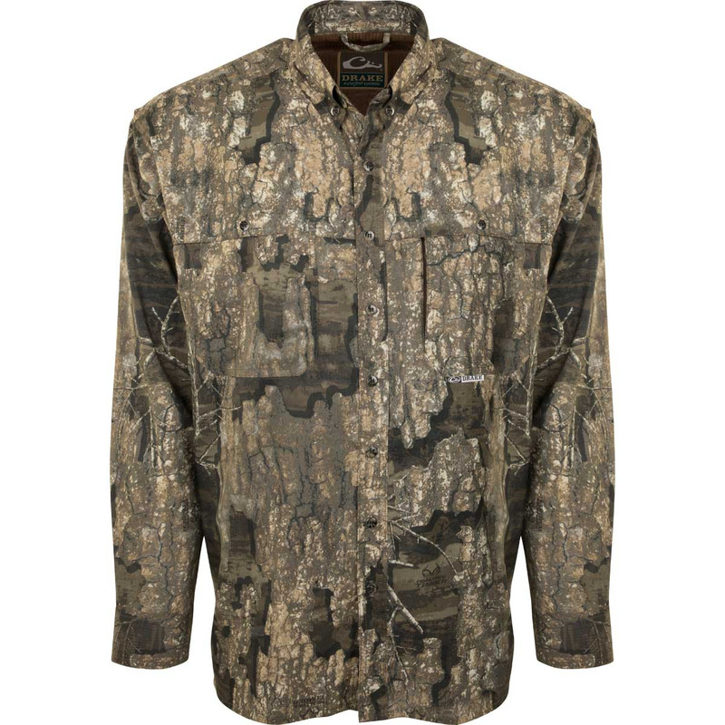 Drake EST Flyweight Wingshooter Long Sleeve Hunting Shirt in Realtree Timber Color