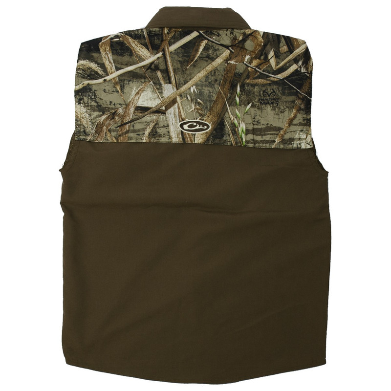 Drake Youth Two-Tone Vented Wingshooter Long Sleeve in Realtree Max 5 Color