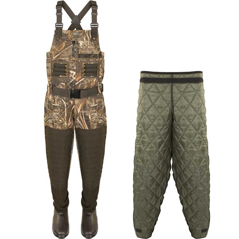 Drake Guardian Elite Breathable Chest Wader with Tear-Away Insulated Liner in Realtree Max 5 Color